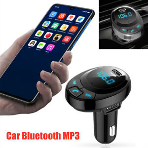 DC12-24V Universal Car Bluetooth MP3 Digital Display Dual USB Car Phone Charger