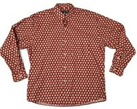Souleiado Shirt Size 4 (L-,XL) button front red made in France rare pattern