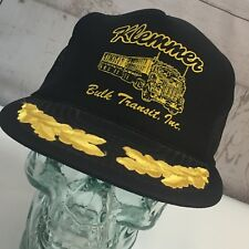 Vtg. Klemmer Bulk Transit, Inc. Black Mesh Embroidered Bill Trucker Snapback Hat