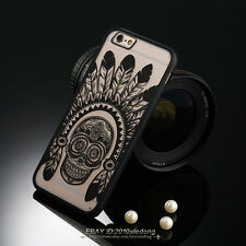 Lace Floral Paisley Flower Mandala Henna Clear Case Cover For iPhone 5 6 6s Plus