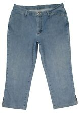 Riders Crop Capri Plus SIze Womens Jeans 18 M 36x25 High Waist Stretch Denim