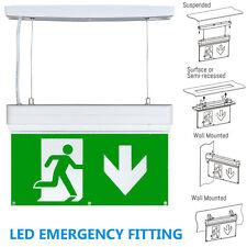 Einheitsgröße 2,7w LED Decke Notfall Maintained Fire Exit Schild Licht Schott
