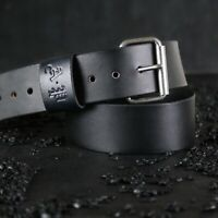 """Personalized Custom Leather Guitar Strap.Adjustable Buckle. BLACK  .2.5 """" wide"""