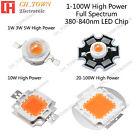Full Spectrum 380-840nm 1w 3w 5w 10w 20w 30w 50w 100w High Power LED Chip Light