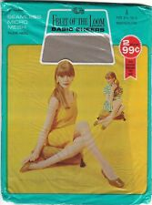 Vintage NOS Fruit Of The Loom Seamless Micro Mesh Nylons Size 8 1/2 Smokeglow