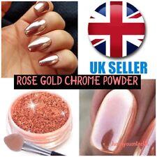 Cromo polvo rosa de oro Espejo de esmalte de uñas de uñas camaleón pigmento copos de arte Reino Unido