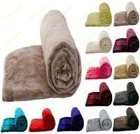 Faux Fur Mink Blanket Sofa Bed Throw Single Double King Size Fleece Soft Blanket