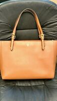 Tory Burch Saffiano Leather Work Tote, tan luggage color, large sz, SOLD OUT OL