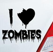 Autoaufkleber I LOVE ZOMBIES The Walking Dead Aufkleber DUB OEM JDM Sticker 185