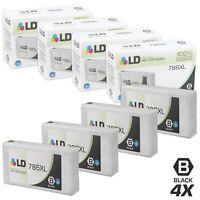 LD 4pk Reman Black Ink Cartridge for Epson 786XL T786XL120 WF-4630 WF-4640