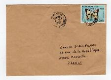 CÔTE D'IVOIRE 1 timbre sur lettre tampon 1996  Abidjan  /L889
