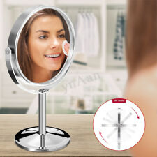 360° Dual Sided Round Magnifying Bathroom Make Up Cosmetic Shaving Swivel Mirror