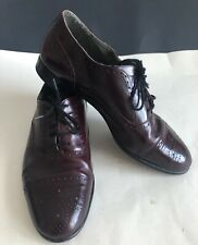 Mens Henry Grethel Shoes Burgandy Oxford Dress Shoes Size 10 EEE