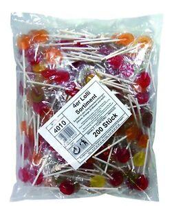 5000x Fruchtlutscher Lutscher 4 Sorten Frucht Lolli Karneval Wurfmaterial Umzug
