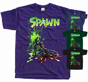 SPAWN v2 GAME T-Shirt BOTTLE GREEN BLACK PURPLE NAVY All sizes S-5XL