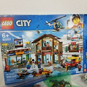 LEGO City Ski Resort 60203 Building Kit, **PRE-OWNED, MISSING PIECES**