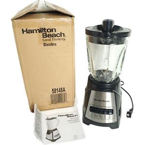 Hamilton Beach Power Elite Blender 12 Functions 40 oz Glass Pitcher Black