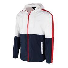 Men's Hooded Lightweight Windbreaker Zip up Windproof Outdoor Jacket S M L XL