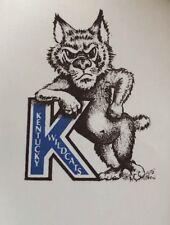 KENTUCKY WILDCATS  MASCOT NCAA DECAL Vintage Old School BASKETBALL CHAMPIONS