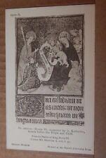 Postcard British Museum Collection Henry VI Psalter St katherine Virgin & Child