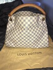 Mint Louis Vuitton Artsy MM Large Authentic Damier Azure Shoulder Tote Leather