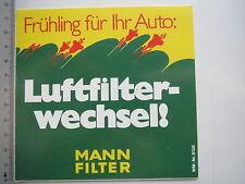 Aufkleber Sticker MANN - Luftfilter - Frühling für ihr Auto (M1587)