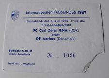 ticket for collector EC Carl Zeiss Jena Aarhus GF 1987 DDR East Germany Denmark