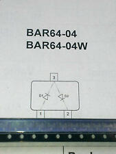 3 Stück BAR64-04  Dual PIN Switch/Attenuator Diode up to 3 GHz SOT23 (M1513)