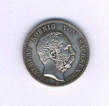GERMANY  SAXONY-ALBERTINE  1902-E  2 MARK SILVER COIN, UNCIRCULATED