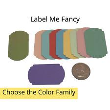 20 Genuine Stampin Up Paper Cardstock Label Me Fancy Punch Shape Die Cut Tag
