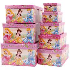 Kinderzimmer Aufbewahrungsboxen Set mit Deckel 8tlg Disney Princess
