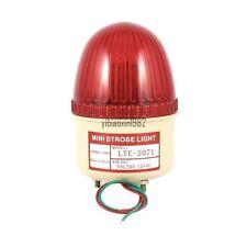 AC 220V Industrial LED Flash Strobe Light Warning Lamp Red LTE-2071