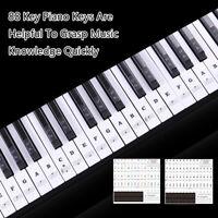 54 61 88 keys electronic piano keyboard sound name stickers key sticker MF