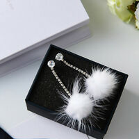 Wild Winter Earrings Mink Rhinestone Ear Stud Dangle Earrings Lady Jewelry Gift