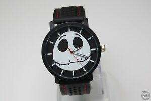 The Nightmare Before Christmas Watch Skull Large Wristwatch Men Black