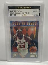 1995-96 Fleer Ultra Scoring Kings Hot Picks #4 Michael Jordan Bulls Five Star 8