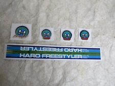 HARO FREESTYLER DECALS BMX WHITE BLUE STICKERS FACTORY MADE RARE