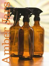 3 x 500ml Amber Glass Spray Bottle - Quality General Cleaning Trigger spray
