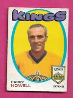 1971-72 OPC #  153 KINGS HARRY HOWELL GOOD CARD  (INV# A9457)