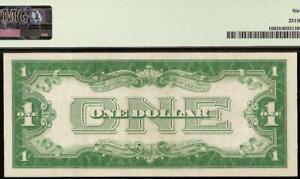 UNC 1928 B $1 DOLLAR BILL SILVER CERTIFICATE FUNNYBACK NOTE PAPER MONEY PMG 64