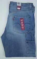 LEVIS Jeans 37 31 BLUE Carpenter LOOSE Straight NWT New MENS Size COTTON Sz JEAN