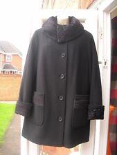 WARMIA CLASSIC CLUB WOMEN'S JACKET COAT BLACK KASHMIR WOOL EU 46 / UK 14-16