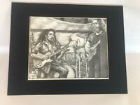 PHIL KUTNO ARTIST PROOF PRINT SIGNED BOB MARLEY JERRY GARCIA PLAYING GUITAR