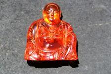 A072 Chinese Amber Buddha.  19/20th Century