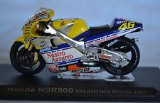 1/24 Ixo HONDA NSR500 VALENTINO ROSSI 2001 Moto Bike Motorcycle 1:24 Altaya /IXO