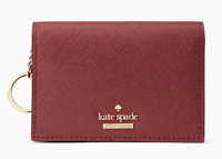 Kate Spade cameron street gabe Key Fob Card Case Coin Purse Wallet ~NWT~ sienna
