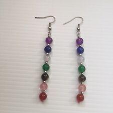 - Spiritual - Healing Gemstone Chakra Dangle Earrings