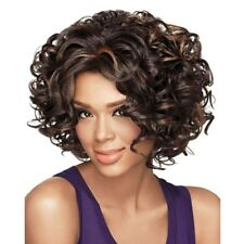 Black Women Style Full Short Wavy Hair Wig Afro Kinky Curly Bob Wigs