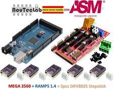 RAMPS 1.4 Control Panel + Mega 2560 R3 + 5pcs DRV8825 Stepper Drive