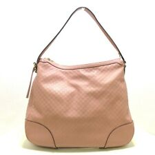 Auth GUCCI Micro Guccissima 449244 Pink Leather Womens Shoulder Bag